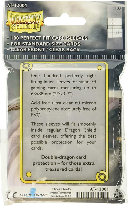 Dragon Shield Perfect Fit Clear Sleeves (100 Pack)