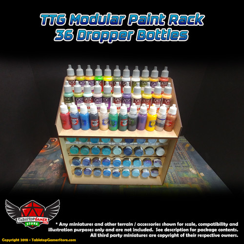 TTG Modular Paint Rack - 36 Dropper Bottles