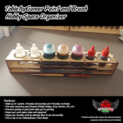 TTG Modular Paint and Brush Hobby Space Organizer