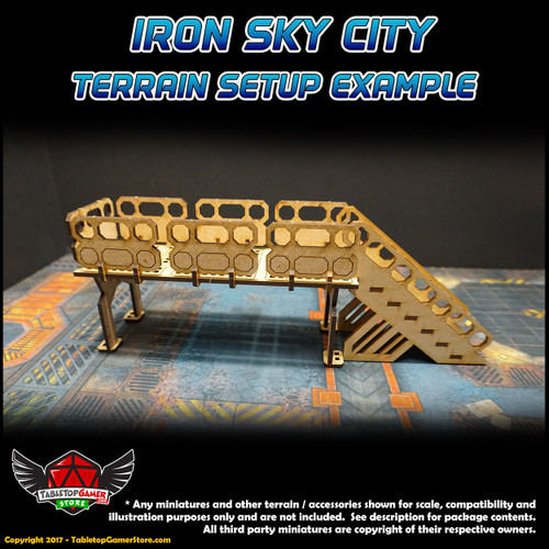 Iron Sky City Large Railing Set A