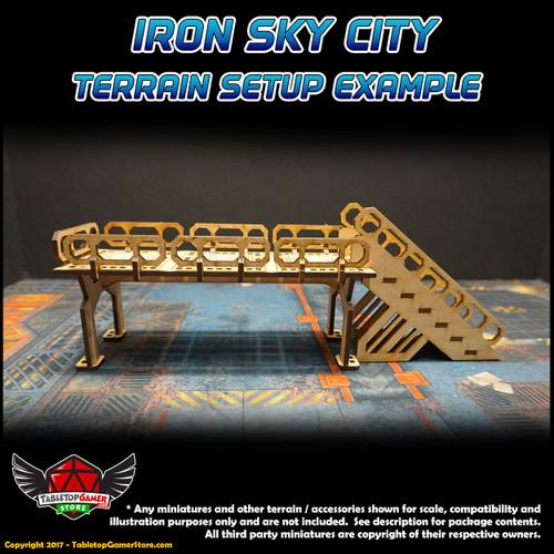 Iron Sky City Small Railing Set A