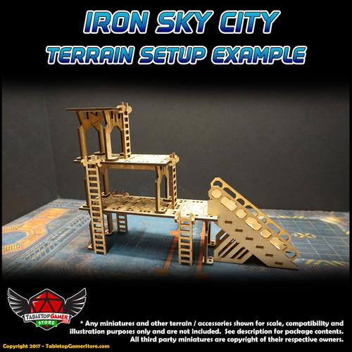 Iron Sky City Long Ladders Set
