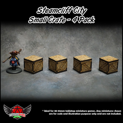 Steamcliff City Small Crate Set - 4 Pack