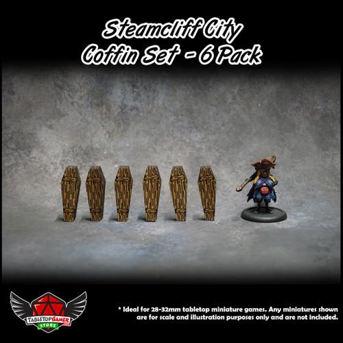 Steamcliff City Coffin Set - 6 Pack