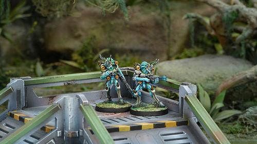 Infinity Kaauri Sentinels (Combi Rifle / Boarding Shotgun) - Tohaa