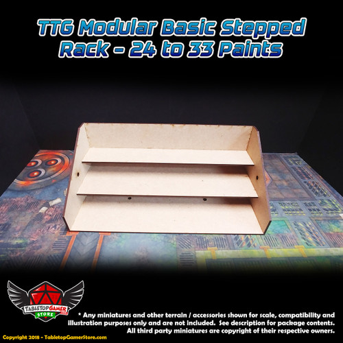 TTG Modular Basic Stepped Rack - 24 to 33 Paints