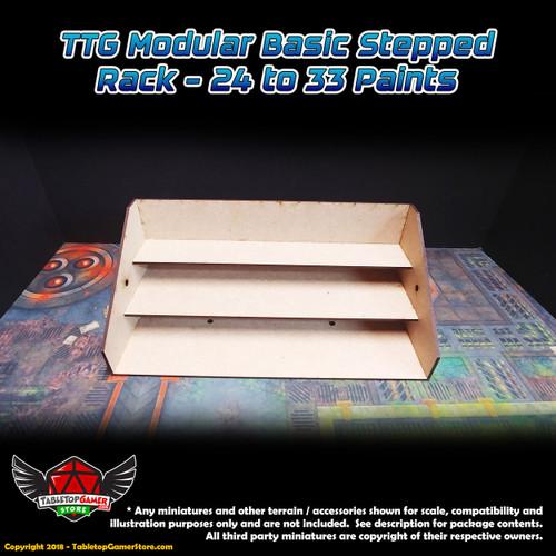 TTG Modular Basic Stepped Rack - 24 to 33 Paints