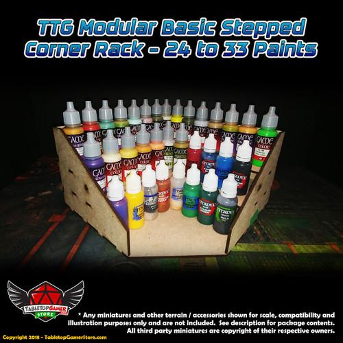 TTG Modular Basic Stepped Corner Rack - 24 to 33 Paints