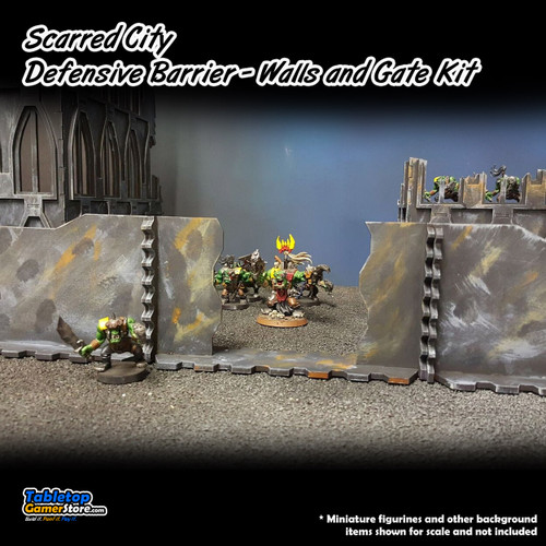 Scarred City Defensive Barrier - Walls and Gate Kit