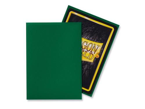 Dragon Shield Card Protectors - Matte - Green - 100 Pack