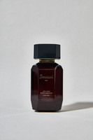 """""""Souriant"""" opens with notes of orange and raspberry spiced up with caramel.  The heart reveals rose, violet and jasmine enhanced by patchouli and incense.  The base is characterized by woody, musky notes of spices magnified by a subtle vanilla"""