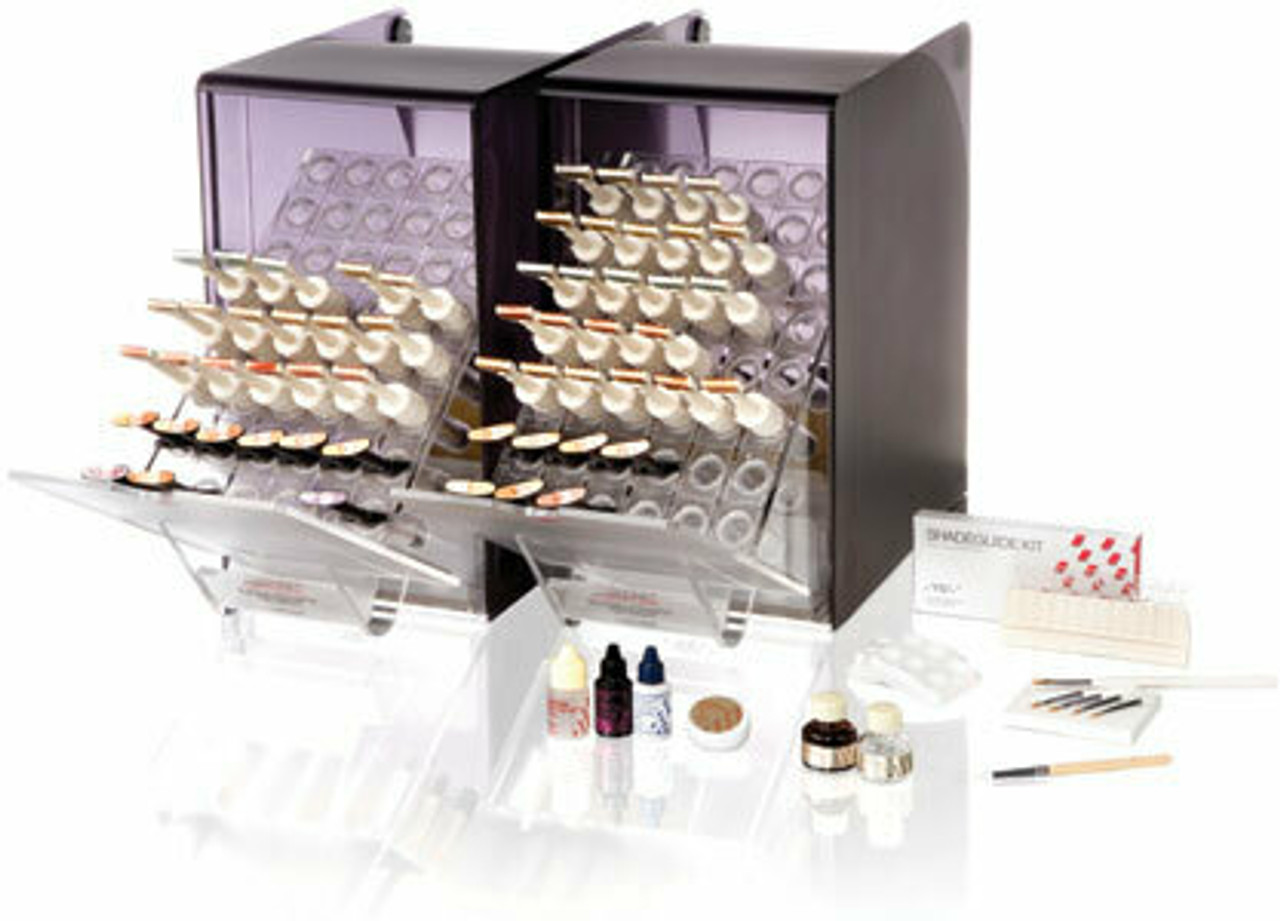 GRADIA Standard Set Contains: Six shades (A2, A3, A3.5, B2, B3 and C2), 26 syringes and accessories.