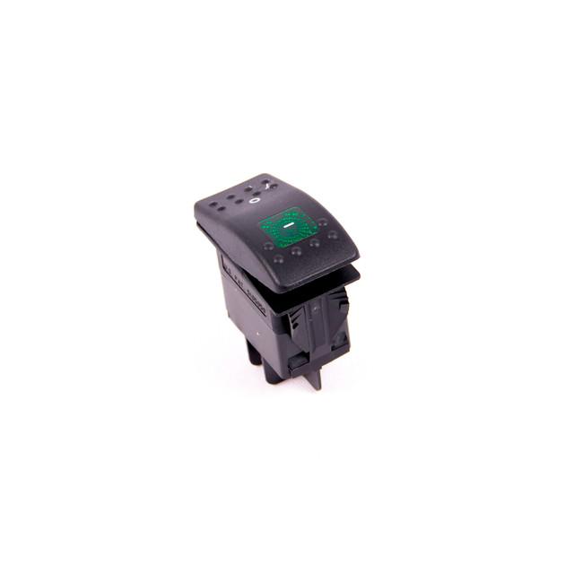Green Lighted Contura Rocker Switch - 230 Volt