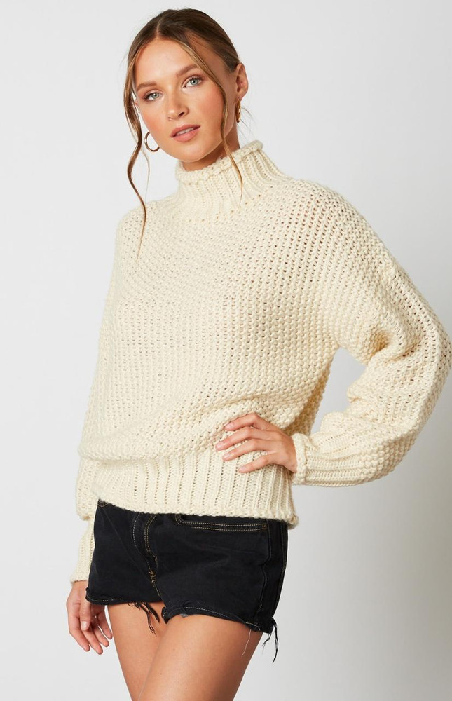 Ivory Funnel Neck Sweater