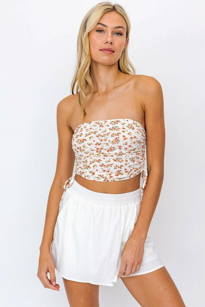 Floral Cropped Tube Top