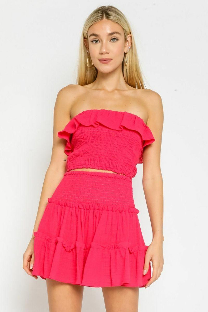 Hot Pink Two-Piece Dress