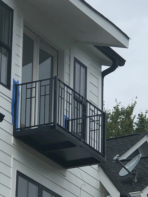 CUBIST STYLE TRUE BALCONY. Choose your deck's width and depth.