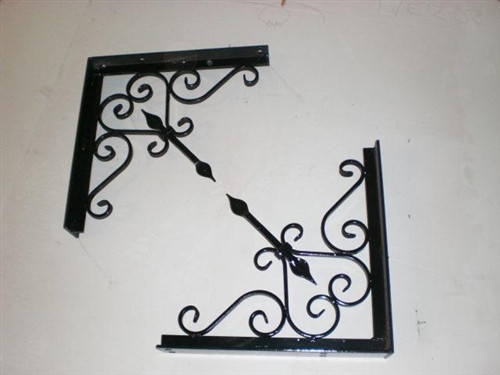 Iron Bow and Arrow Bracket