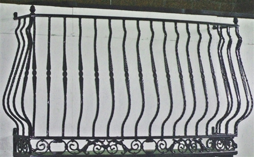 IRON LADY BAROQUE FAUX BALCONY. Choose the width and the potter base.
