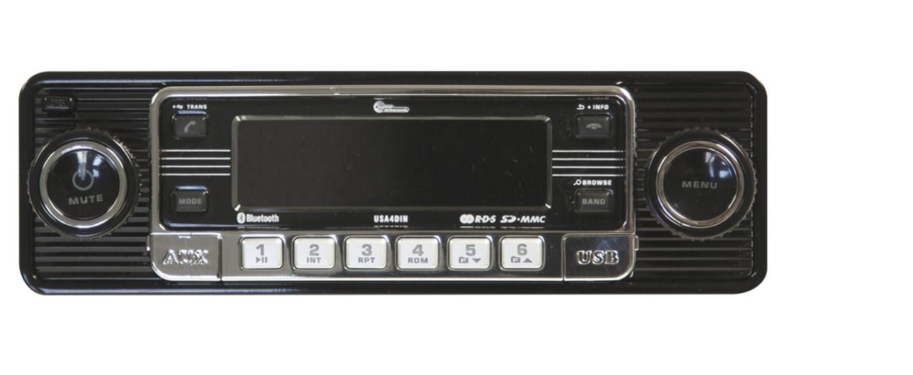 Custom AutoSound USA-4 In Dash AM/FM/CD MP3 2 with Bluetooth