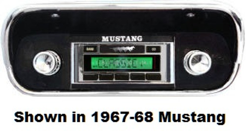 Custom AutoSound 1964.5-66 Mustang USA-630 In Dash AM/FM