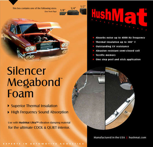 "HushMat Silencer Megabond - 1/8"" - #20100 1"