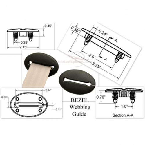Seatbelt Planet Bezel Webbing Guide - Black
