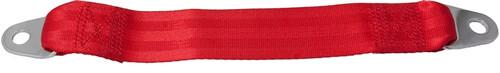 """12"""" Belt Extender For Lap Belts -- Bright Red Webbing"""