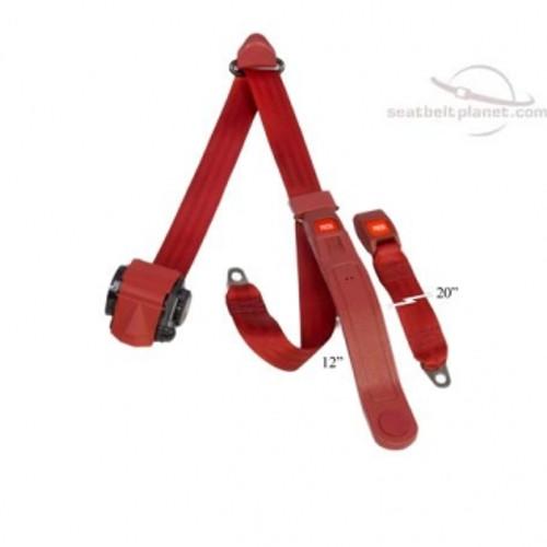 Seatbelt Planet 3pt Retract Push Button Lap & Shoulder Seat Belt