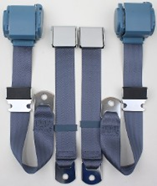 """Pre 1974 3pt Conv. Seat Belts for Mustang 113"""" (Call for Prices)"""