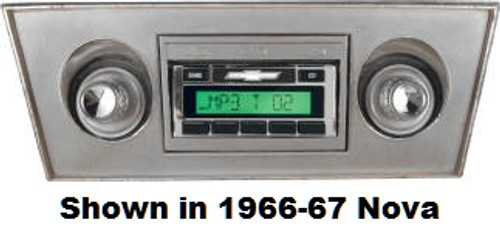 Custom AutoSound 1968-72 Nova USA-630 In Dash AM/FM