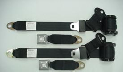 C3 Corvette 74-77 Single Retractor Seat Belt Set