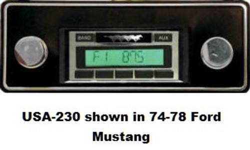 Custom AutoSound 1970-71 Torino USA-230 In Dash AM/FM