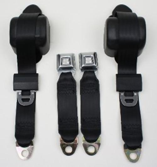 3pt Seatbelt w/Metal Starburst Buckle Style