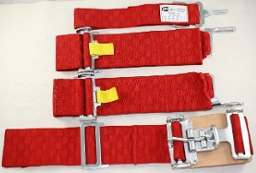 5Pt. Red Checkerboard Racing Harness