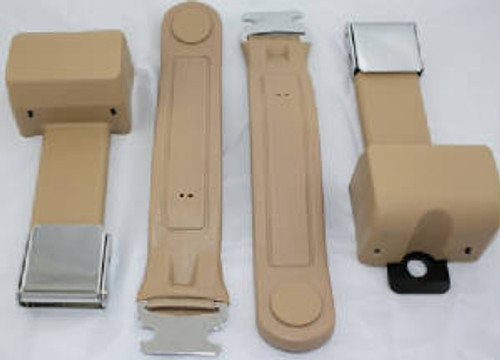 2-Point Chrome Lift Latch Seat Belts