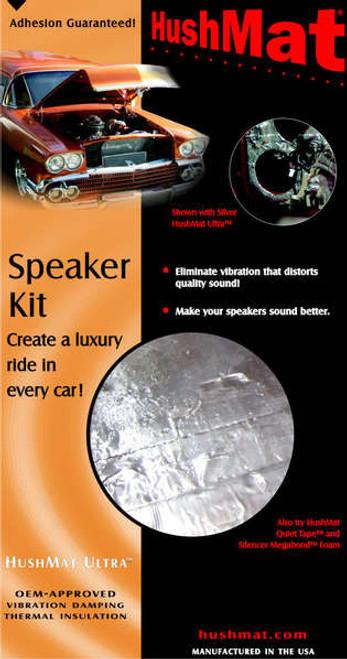 HushMat Ultra Speaker Kit - Silver - Item #10111