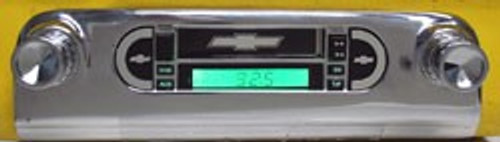 Custom AutoSound 1953-54 Belair USA-230 w/o OEM PB Radio AM/FM 1