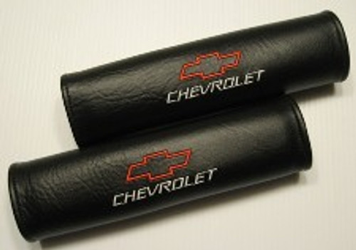 Chevy Seat Belt Pads w/Red Chevy Symbol (Call for Prices)