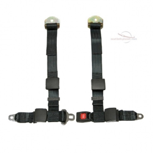 Seatbelt Planet 4pt Harness Push Button Style