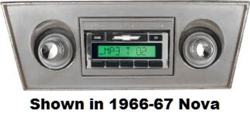 Custom AutoSound 1966-67 Nova USA-630 In Dash AM/FM