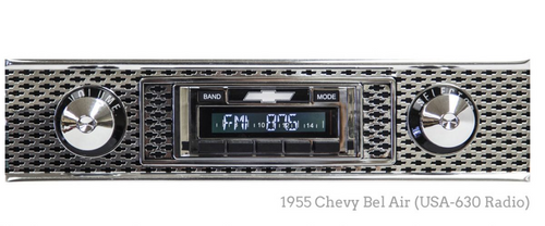 Custom AutoSound 1940-48 Chevy USA-630 In Dash AM/FM 1