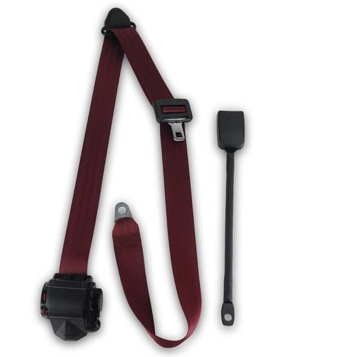 1958-1971 Austin Healey Sprite End Release Retractable Lap & Shoulder Seat Belt