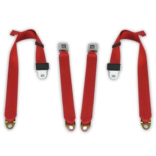 1982-1987 Buick Regal, Rear Driver & Passenger Seat Belt Kit Non-Retractable 2 Point Lap Belt