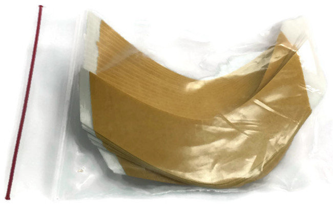 Brown Liner White Cloth Hairpiece Tape Contour AA