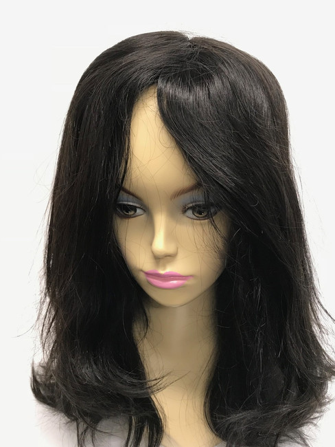 Women's Custom Hair System, Fine Mono, Poly Perimeter, French Lace Front