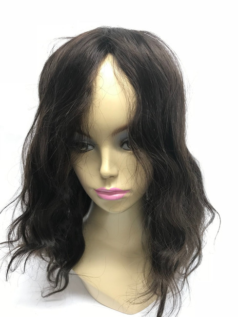 Women's Custom Hair System, Fine Mono, Poly Perimeter, Poly Front