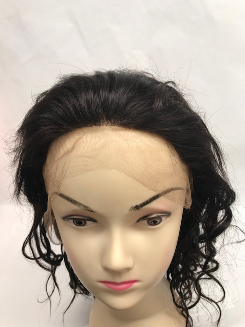 "Full Lace Wig, Indian REMY, Color #2, 12"", Body Wave"