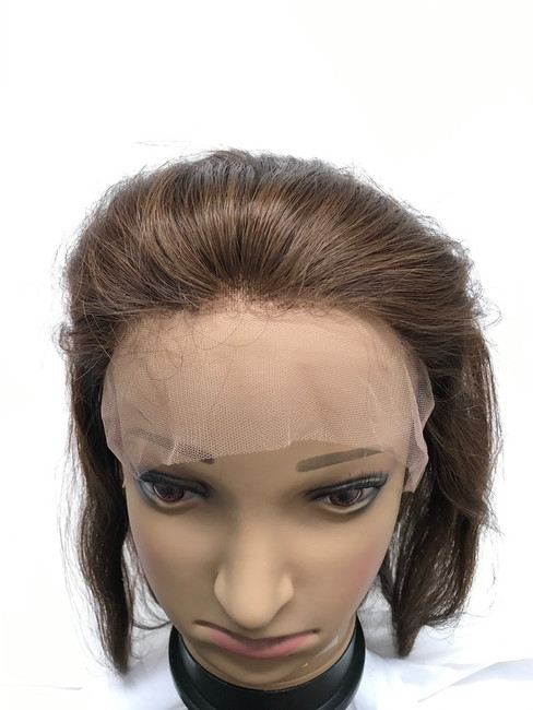 """Lace Front Wig, Indian REMY, Color #4, 12"""", Straight"""