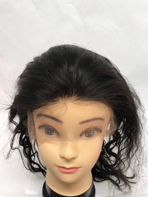 "Lace Front Wig, Glueless, Indian REMY, Natural Color, 12"", Body Wave"